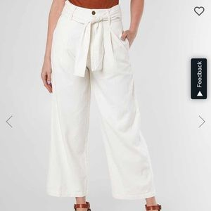 BILLABONG NEW OR NEVER CROPPED WIDE LEG PANT